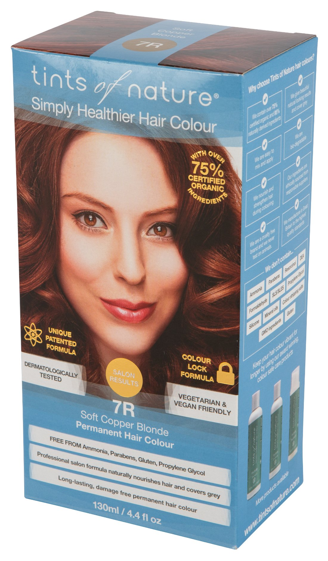 Tints of Nature Permanenent Colour - 4.4 fl oz - 12 Pack (7R Soft Copper Blonde) by Tints of Nature (Image #1)