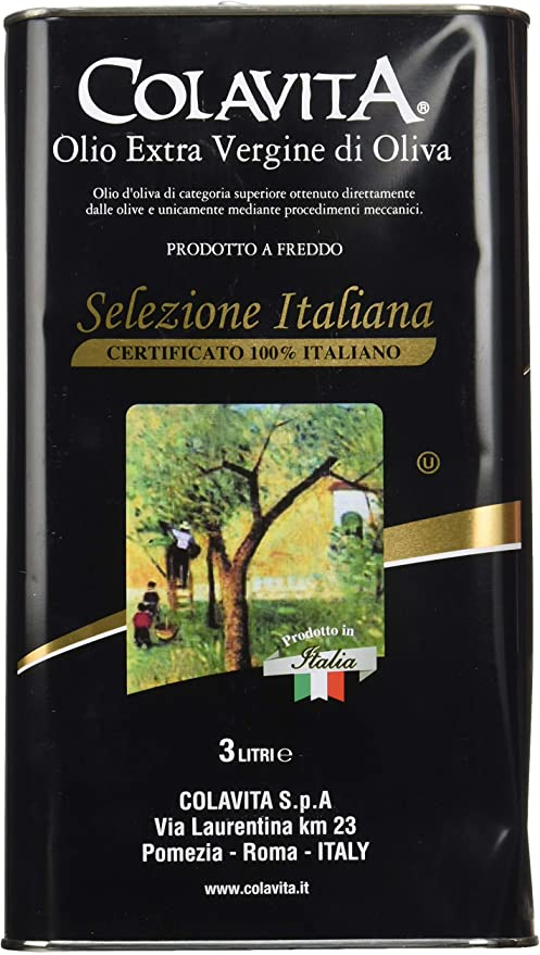 Olio extra vergine di oliva colavita , 3 litri 800-431-2832