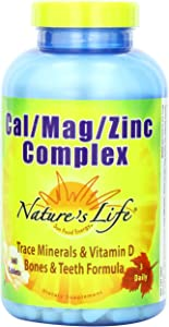 Nature's Life Cal/Mag/Zinc Tablets, 1000/600/15 Mg, 360 Count