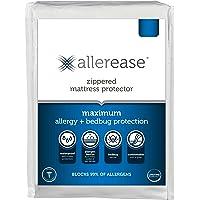 AllerEase Maximum Allergy and Bedbug Waterproof Zippered Mattress Protector - Vinyl Free & Hypoallergenic - 10 Year…