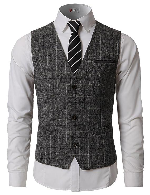 H2H para Hombre Slim Fit Premium Business Vestido Formal ...