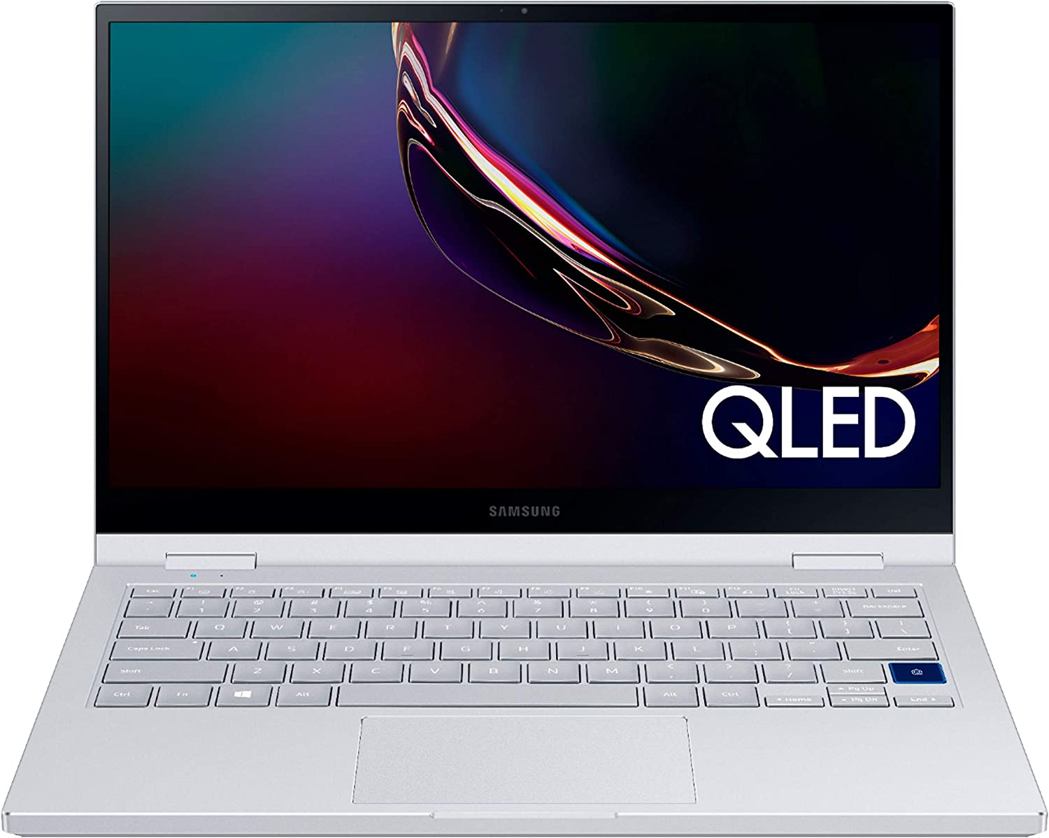 "Samsung Galaxy Book Flex Alpha 2-in-1 13.3"" QLED Touch-Screen Laptop 10th Gen Core i5-10210U 8GB RAM 256GB SSD Backlit KB Type-C Wi-Fi 6 FP Reader Webcam Battery Life 18.5 hrs Win10"