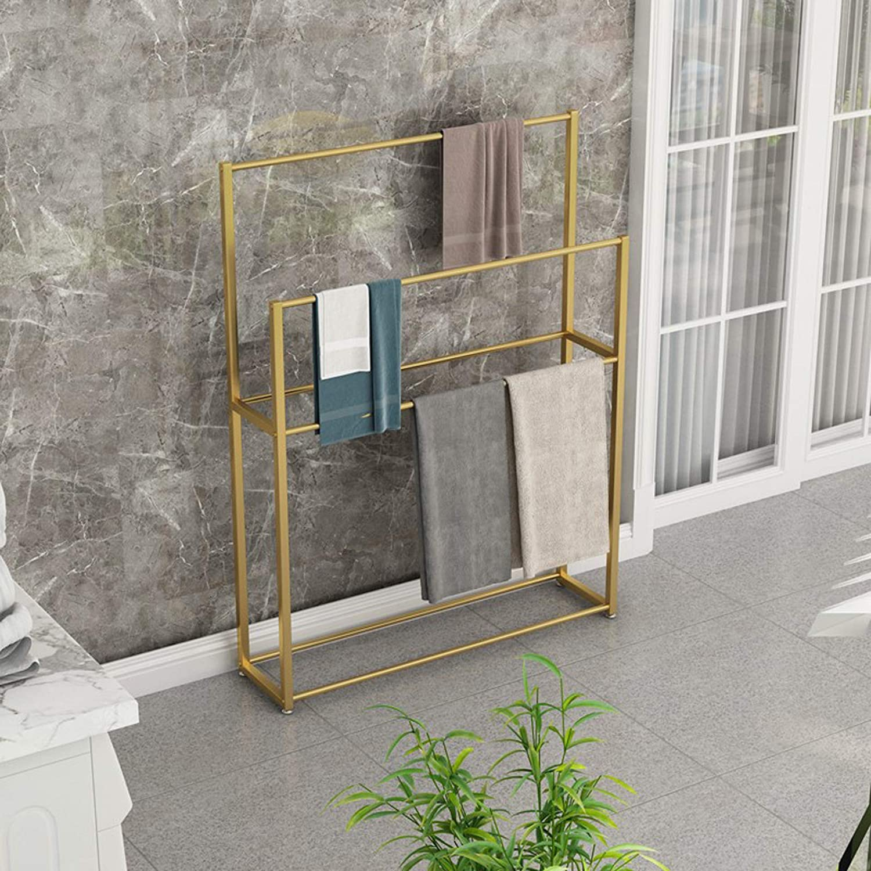 HNCS Porte-Serviettes De Salle De Bain sur Pied avec 4 Barres,Support /à Serviettes Au Design Style Moderne en M/éTal Inoxydable pour Les Accessoires De Bain Valet Serviteur