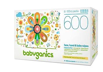 Amazon.com: Babyganics - Toallitas para la cara, manos y ...