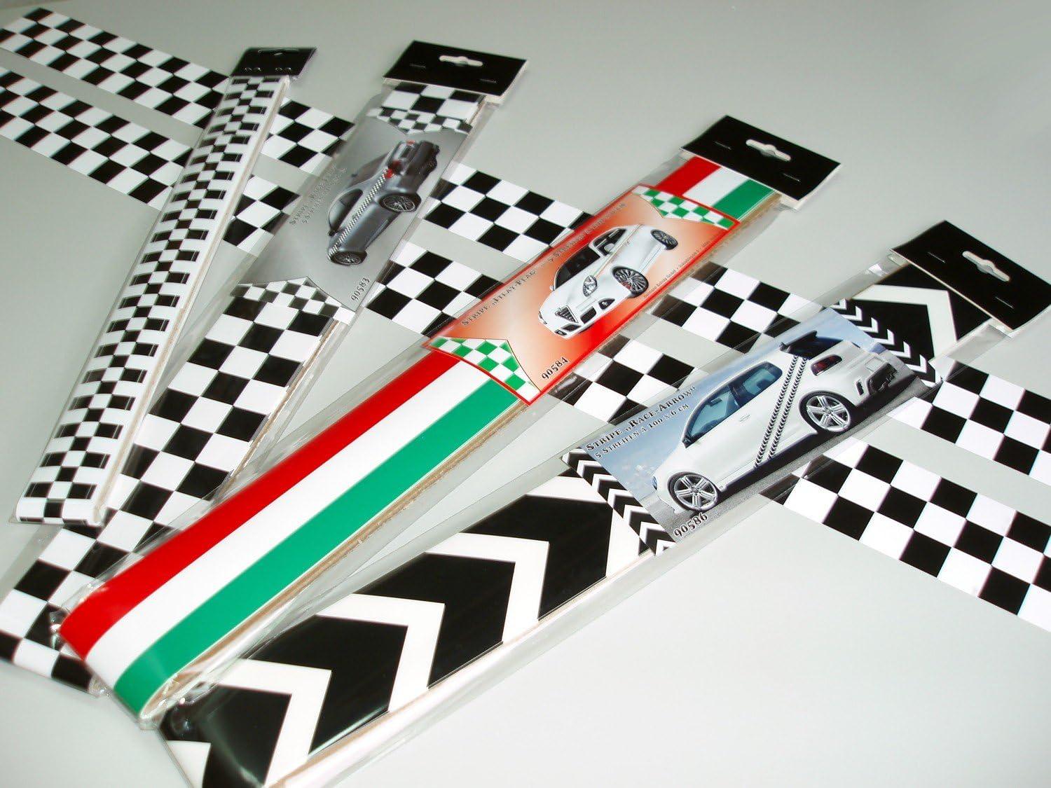 Carstyling Xxl Race Flag Stripe Streifen 5 M X 30 Mm Schneller Versand Innerhalb 24 Stunden Auto