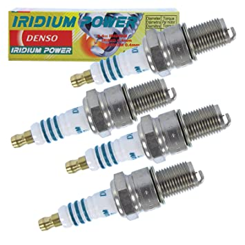 4 x Original denso Bujía Bujía Iridium Power iw27: Amazon.es: Coche y moto