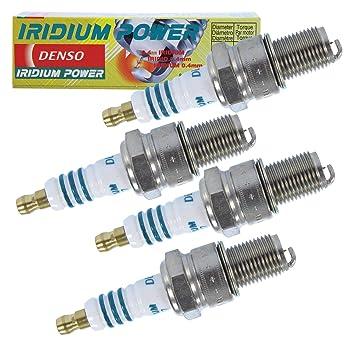 4 x Original denso Bujía Bujía Iridium Power iw27: Amazon.es: Coche y moto