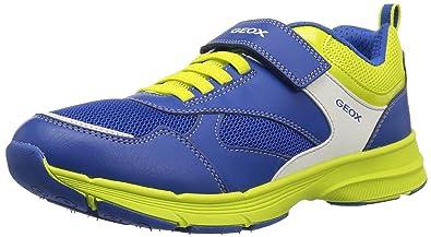 6d56c9534369f9 Geox Scarpe Kids Sneakers HOSHIKO in Pelle blu J745GC-01454-C4344 ...