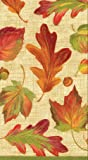 Entertaining with Caspari Paper Guest Towels, Linen Leaves, Pack of 15