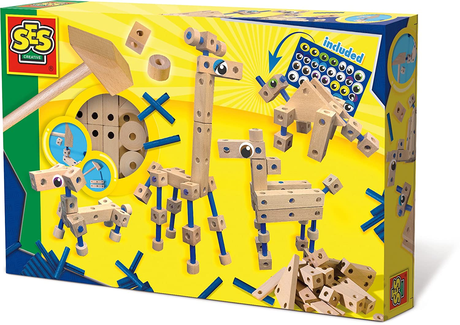 SES Creative Deluxe Carpentry Wood Building Playset SES14946