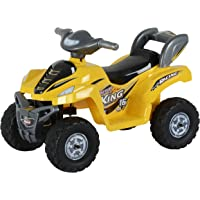 Toy House Desert King Small ATV Bike 6V Rechargeable Battery Operated Ride On for kids( 2to 4),Yellow