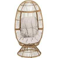 Overstock.com deals on Christopher Knight Home Pintan Wicker Swivel Egg Chair