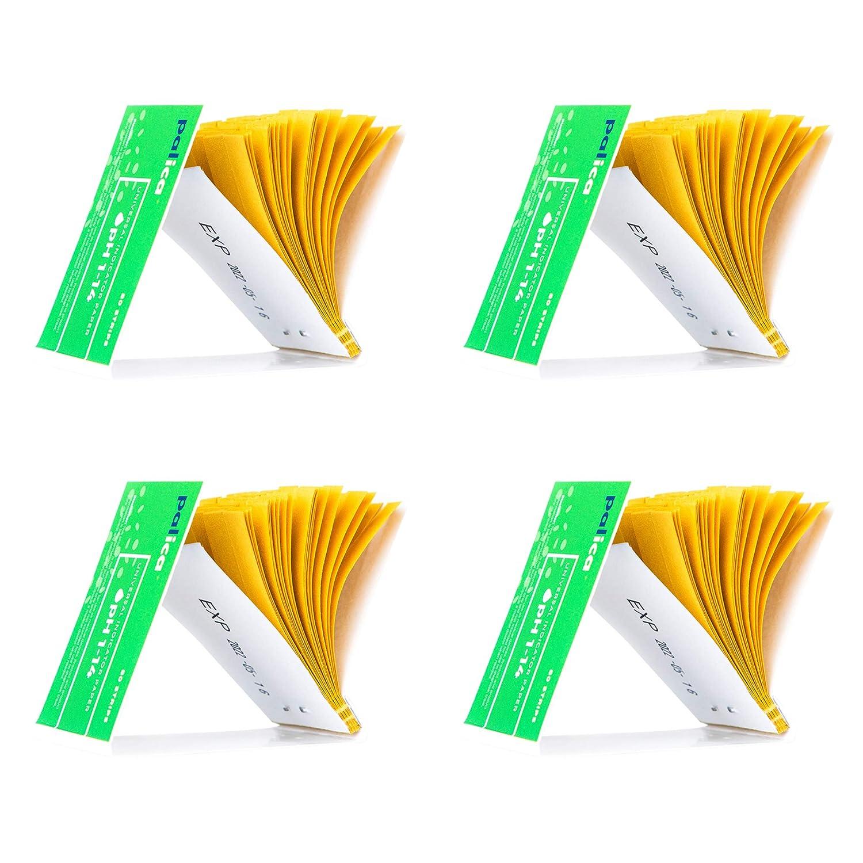4 Packs of pH Test Strips, Wide-Range 1-14, Litmus Paper, for Water, Drinks, Vinegar, Saliva, Urine, Cosmetic Solutions, Soap, Fish Tank, Pool (320 Strips)