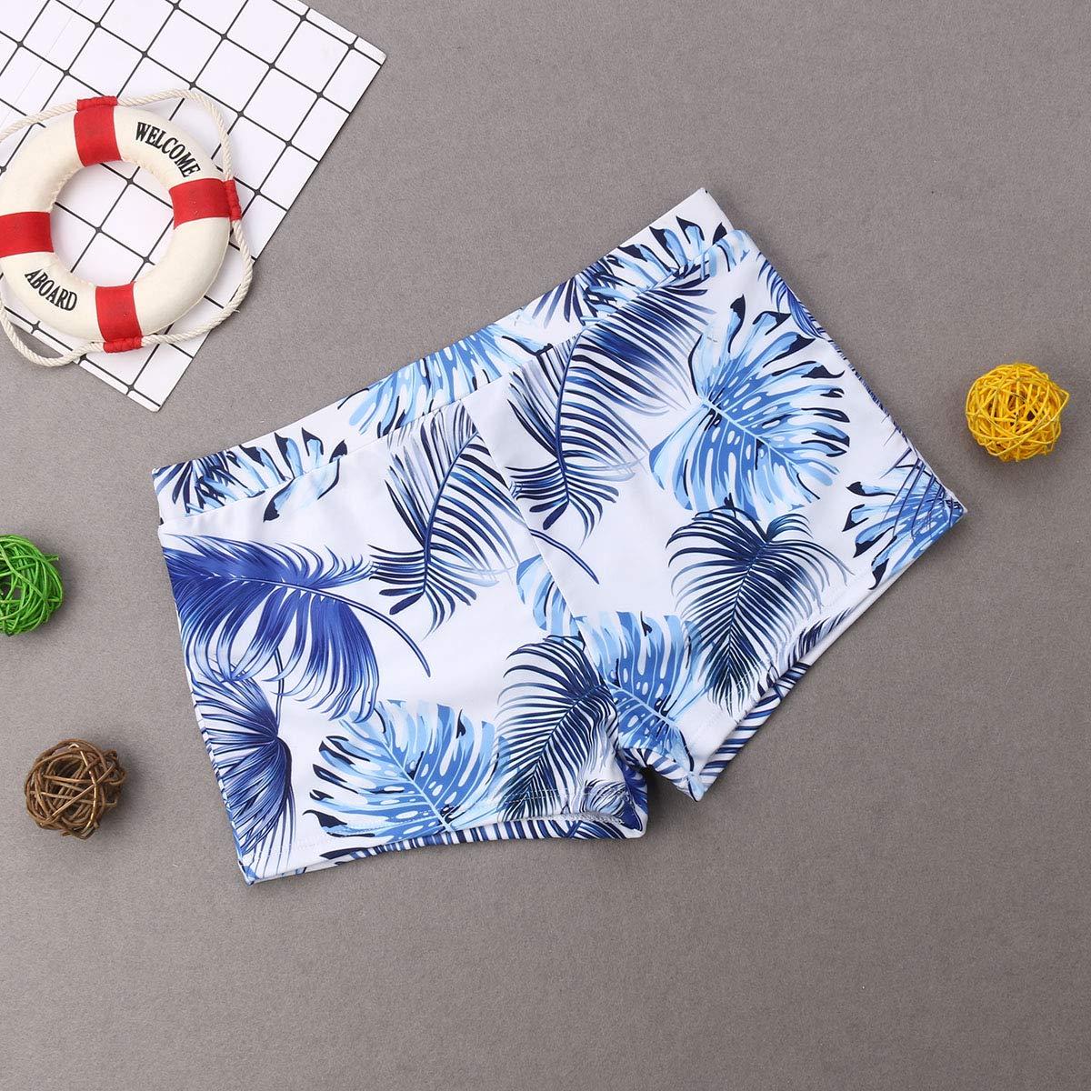 Family Swimwear Mommy Father Son Daughter Matching Palm Leaf Print Bikini Set