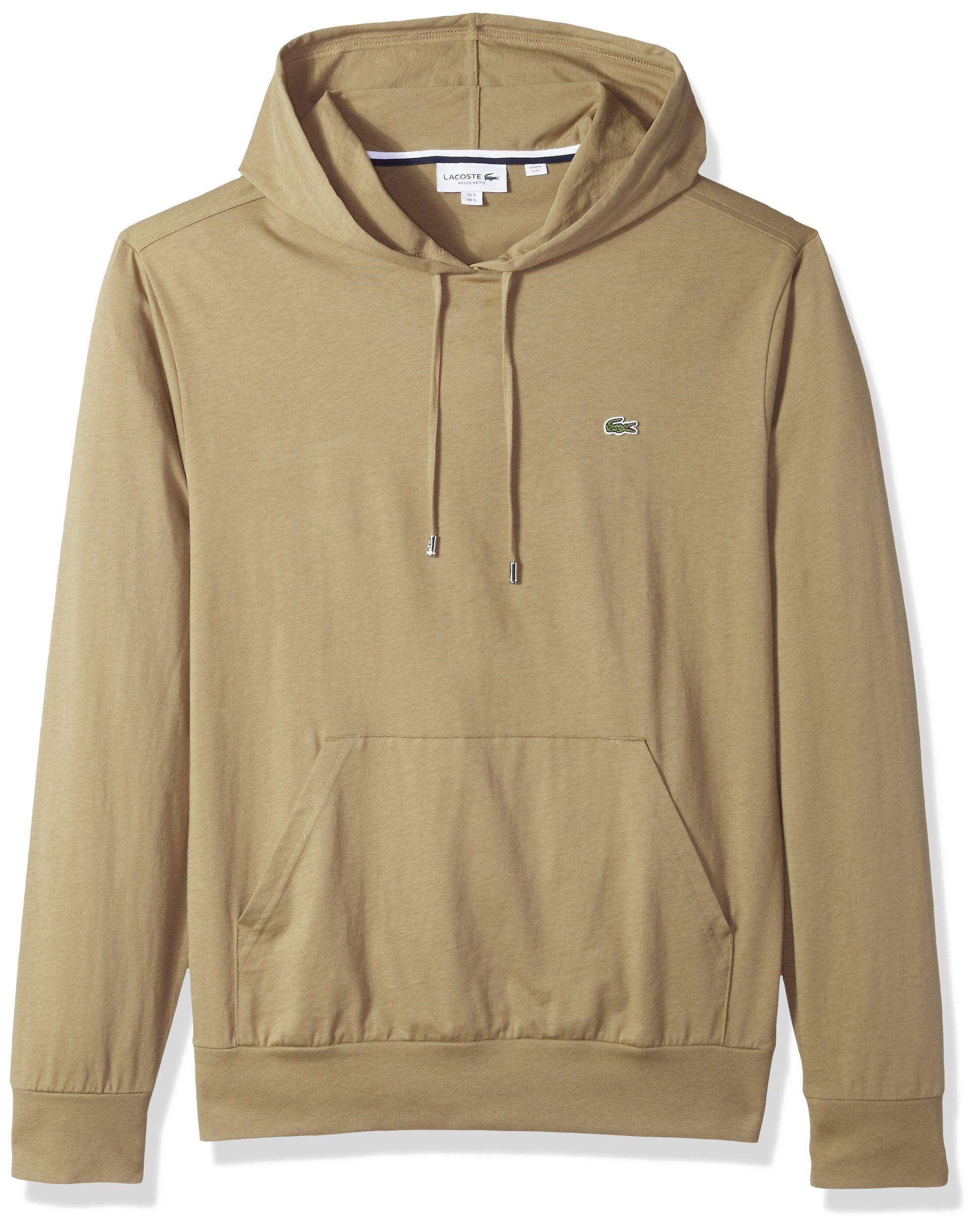 Lacoste Men's Hooded Cotton Jersey Sweatshirt, Aloe, XX-Large