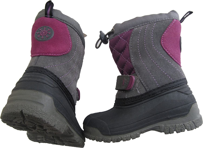 Purple//Grey 5-6 sporto Boots Little//Girls Size Small