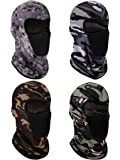 4 Pieces Balaclava Face Mask Windproof Sun Dust Protection Mask Breathable Full Face Cover for Outdoor Activities…