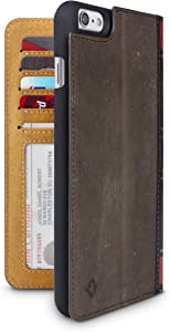 Twelve South BookBook for iPhone 6 Plus/6s Plus, brown | 3-in-1 leather wallet case, display stand + removable shell