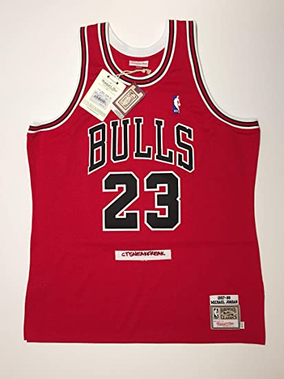 948d76d6cde Image Unavailable. Image not available for. Color: Mitchell & Ness Michael  Jordan 97-98 Chicago Bulls Jersey ...