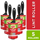 Scotch-Brite Lint Roller, 5 Rollers, 95 Sheets/Roller (475 Sheets Total)