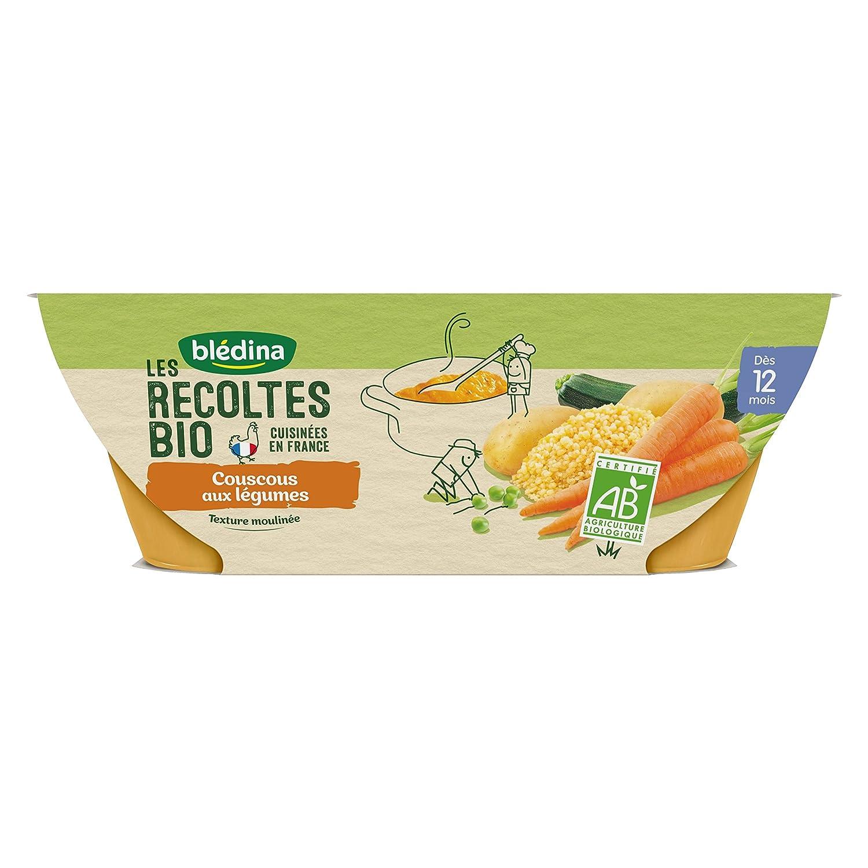Blé dina Idé e de Maman Bio 12 bols Couscous de Lé gumes (Pack de 6x2 bols) BLEDINA 3041091349507