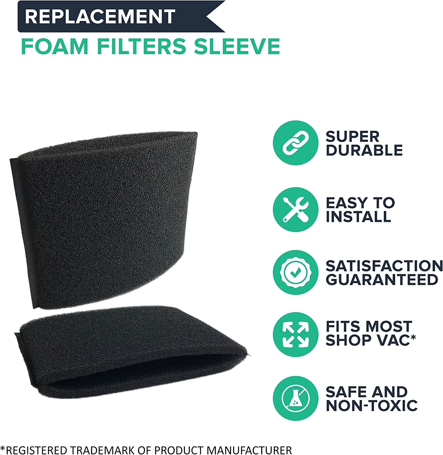 Shop-Vac Foam Filter Sleeve Designed to Fit Most Shop-Vac Wet//Dry Vacuums
