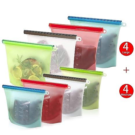 Amazon.com: Elabo 8 bolsas de almacenamiento de alimentos de ...