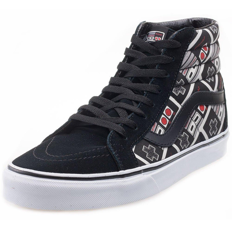 d3730a4ac8a423 Galleon - Vans Mens Nintendo SK8-Hi Reissue Controller True White Sneaker -  4