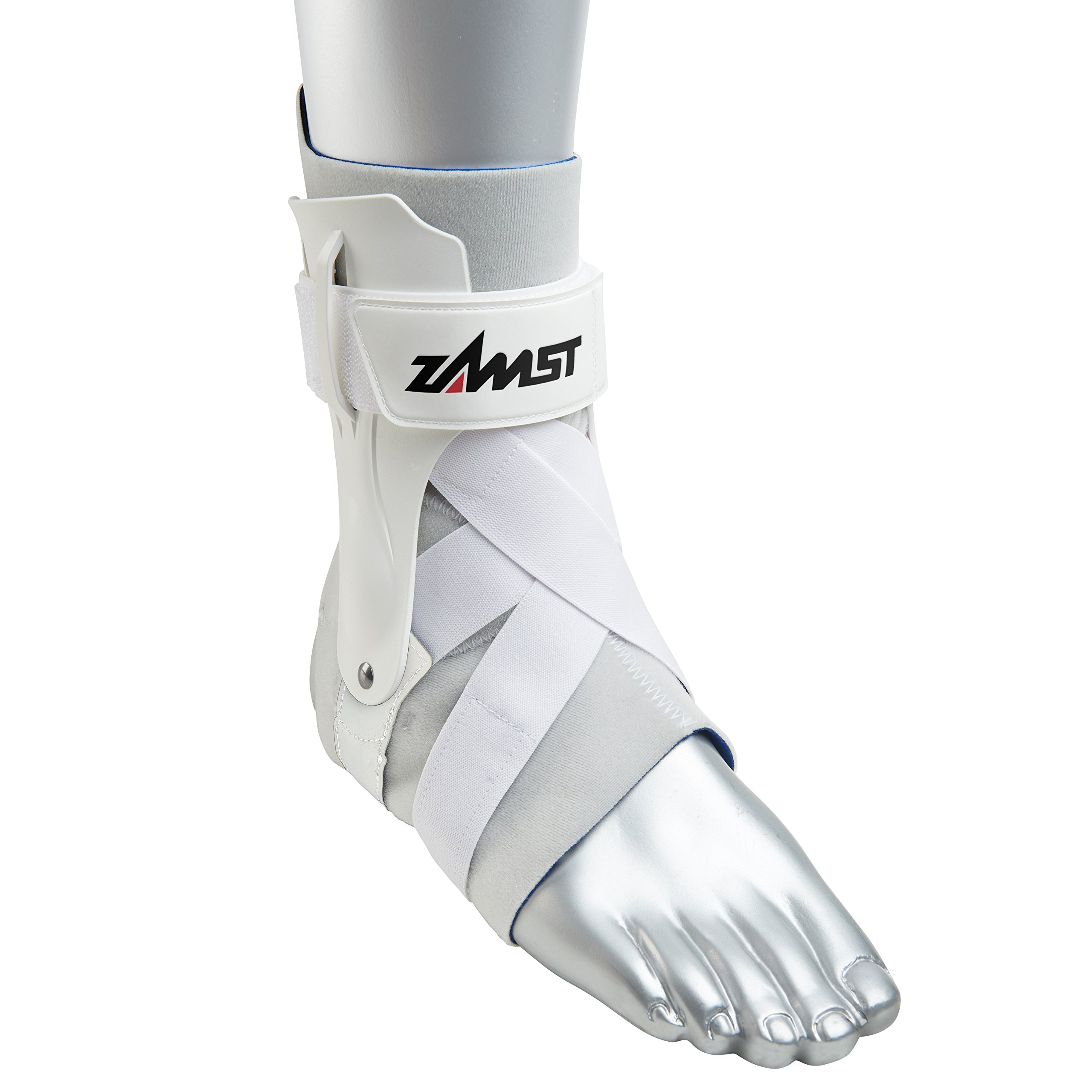 Zamst Ankle Brace Support Stabilizer: A2-DX Mens & Womens Sports Brace for Basketball, Soccer, Volleyball, Football & Baseball,White,Left,X-Large