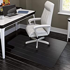 HYNAWIN Office Chair Mat for Hard Floors - 36''×47'',Heavy Duty Clear Wood/Tile Floor Protector PVC Transparent