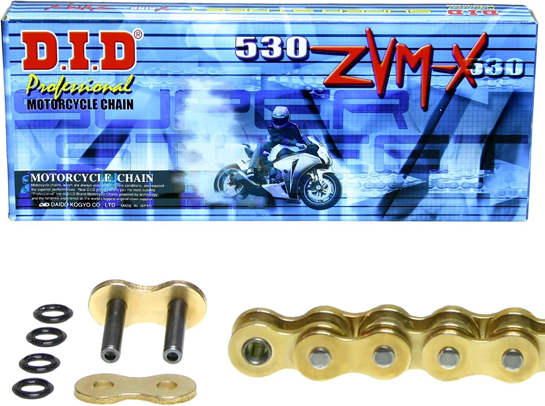 Kettensatz Kawasaki ZZ-R 1200 Typ ZXT20C super verst/ärkt 2002-2005 DID X-Ring ZVM-X gold