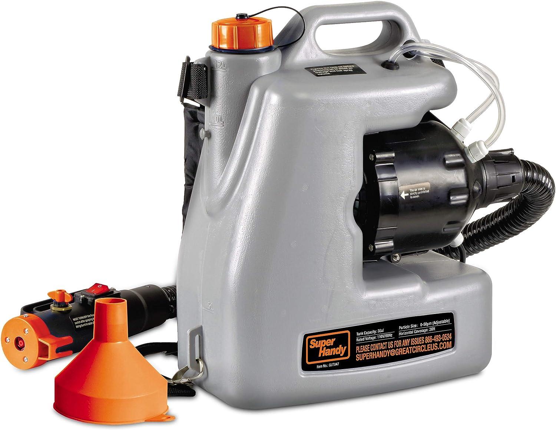 SuperHandy ULV Eléctrico Pulverizador Desinfectante Atomizador Mochila Niebla Plumero Fogger12L/3Gal. Nebulizador de Partículas de Medida Adaptable 0-50μm