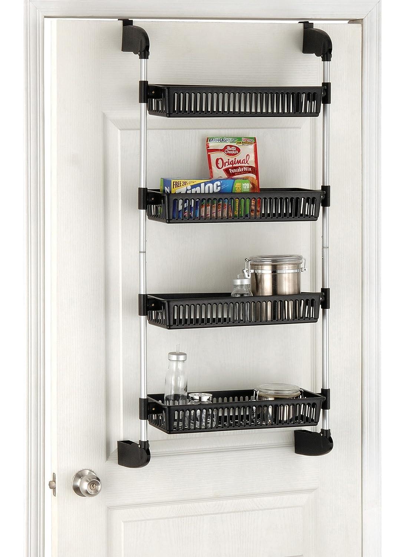 Kitchen Bathroom Rack Organizer Over The Door Basket Shelf