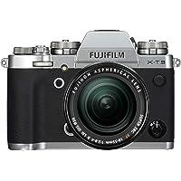 Fujifilm X-T3 Systemkamera (26,1 Megapixel, 7,6 cm (3 Zoll) Display, Touch-Display, APS-C-Sensor) Kit inkl. XF18-55mmF2.8-4 R LM OIS Objektiv silber