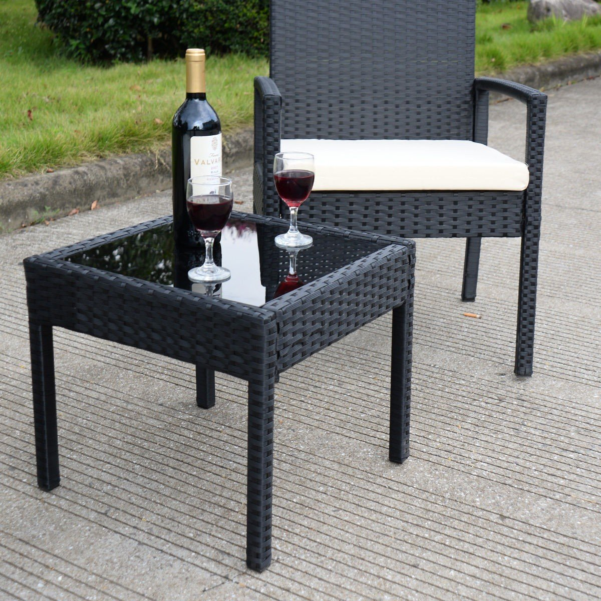 3 pcs Outdoor Rattan Patio Furniture Set - By Choice Products by By Choice Products (Image #4)