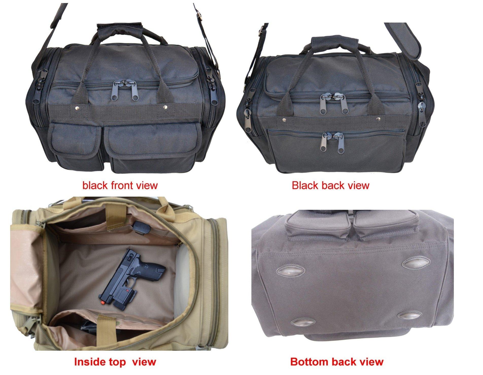 EXPLORER Range Bags Handguns Tactical Gear Shooting Accessories Large 1200 D Gun Bag Waterproof AR Magazine Holders Padded Pistol Cases Ammo Bag by Explorer