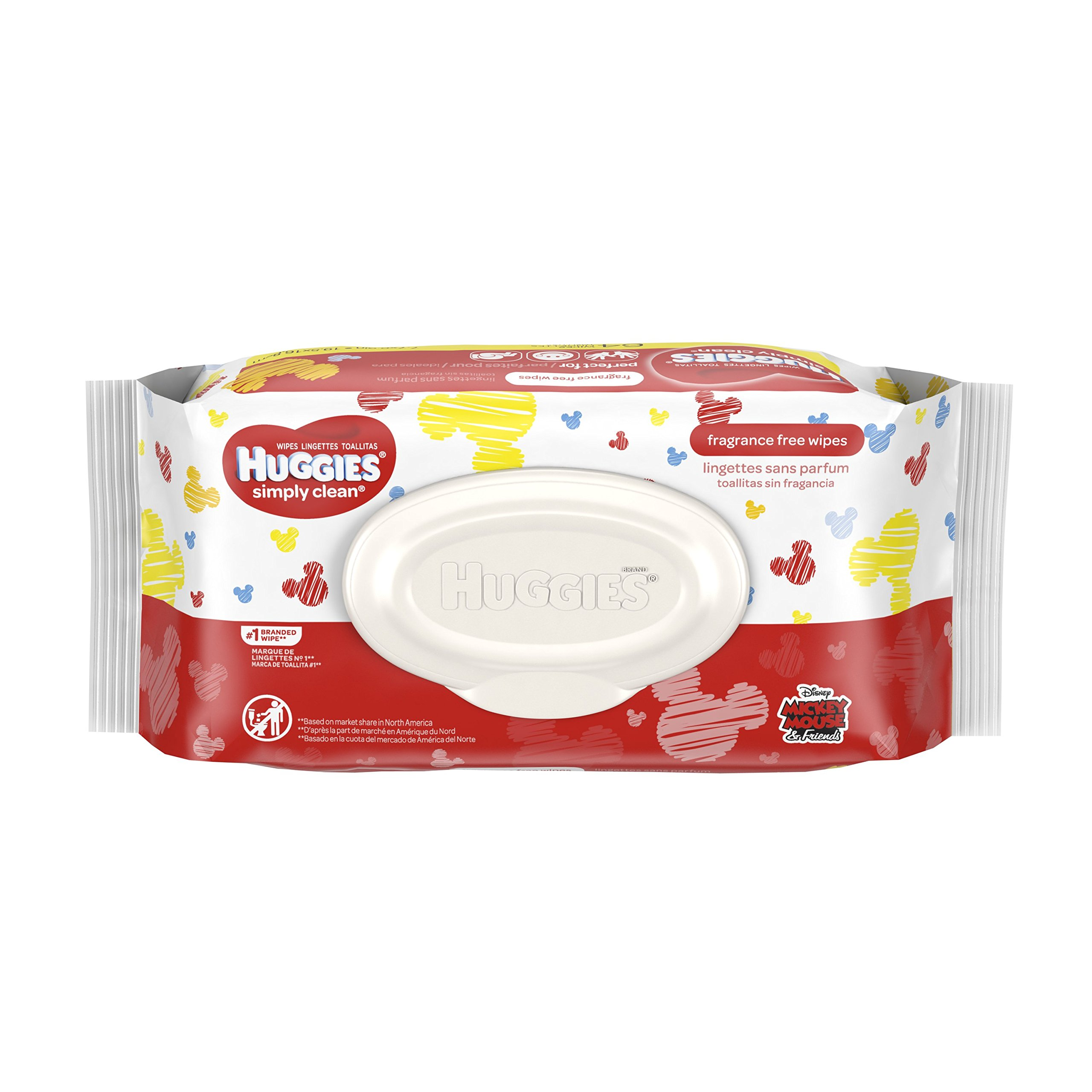 HUGGIES Simply Clean Fragrance-Free Baby Wipes Soft Pack, 64 Count, Packaging may vary.