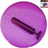 Air Stability Wobble Cushion, Purple, 35cm/14in Diameter, Balance Disc, Pump Included