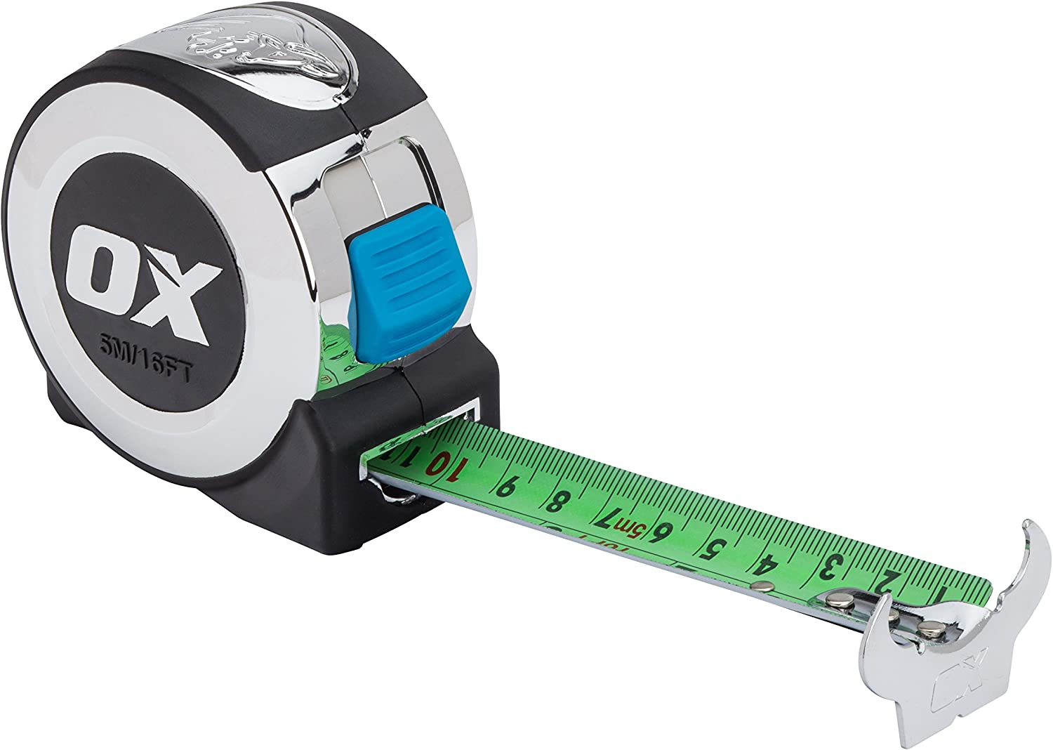 EQUIP 5m//16ft Pocket Tape Measure SILVER COLOUR WITH AUTO LOCK HEAVY DUTY