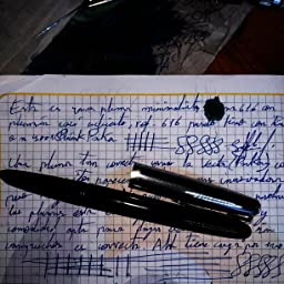 SODIAL(R)HERO 616 Pluma fuente encapuchado pluma de oro Negro Barril Pequeno Vintage: Amazon.es: Oficina y papelería