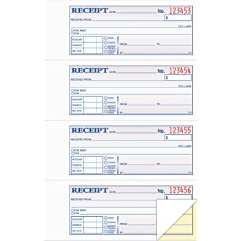 amazon com tops money rent receipt book 2 part carbonless 11 x