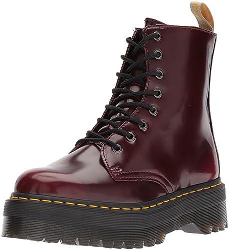 84d1c7756521 Dr Martens Unisex Jadon Vegan Cherry Red Quad Cambridge Brush Boots ...