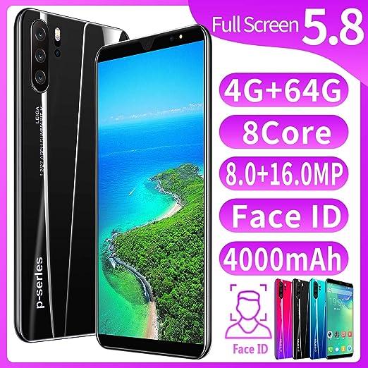 XGLL Pantalla Completa 5.8 Pulgadas Smartphones, 8.0MP + 16.0MP 4GB RAM + 64GB ROM 4000Mah Batería De Iones De Litio Dual SIM Teléfono Móvil,Negro: Amazon.es: Hogar