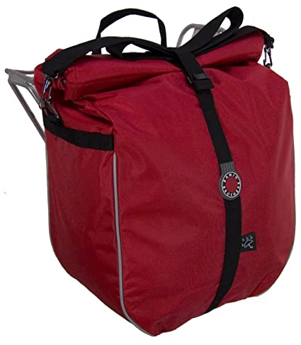 d8aebc764a Amazon.com   Banjo Brothers Waterproof Pannier (Red)   Bike Panniers ...