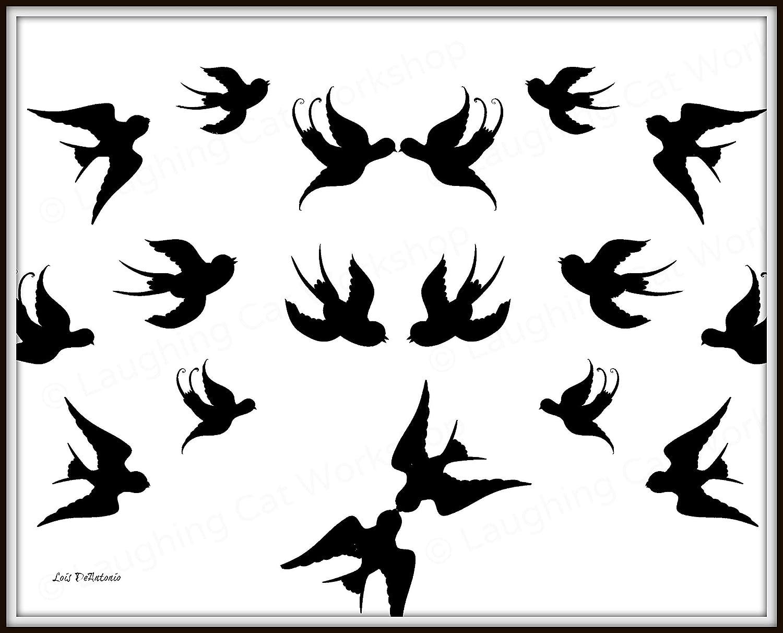 Amazon Com Bird Art Print Love Art Modern Art Print Black And White Art Lovebirds Love Flying Birds Poster Teen Girls Room Decor Bird Lovers Gift Scandinavian Contemporary Bedroom Decor Sparrow Art Handmade