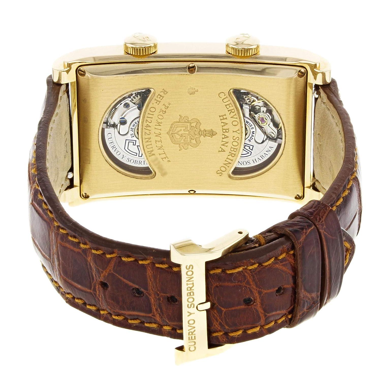 Cuervo Y Sobrinos Prominente Reloj Automático Auto-Wind Macho O1124/2 (Certificado Prepropiado): Cuervo Y Sobrinos: Amazon.es: Relojes