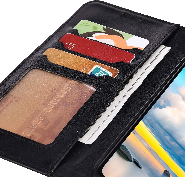 Saceebe Compatible avec Huawei P20 Lite Coque Cuir /Étui Wallet Housse /Él/éphant Fleur Motif Dessin Portefeuille Coque Magn/étique Pochette Folio Coque Porte-Cartes Support Stand Clapet,Noir