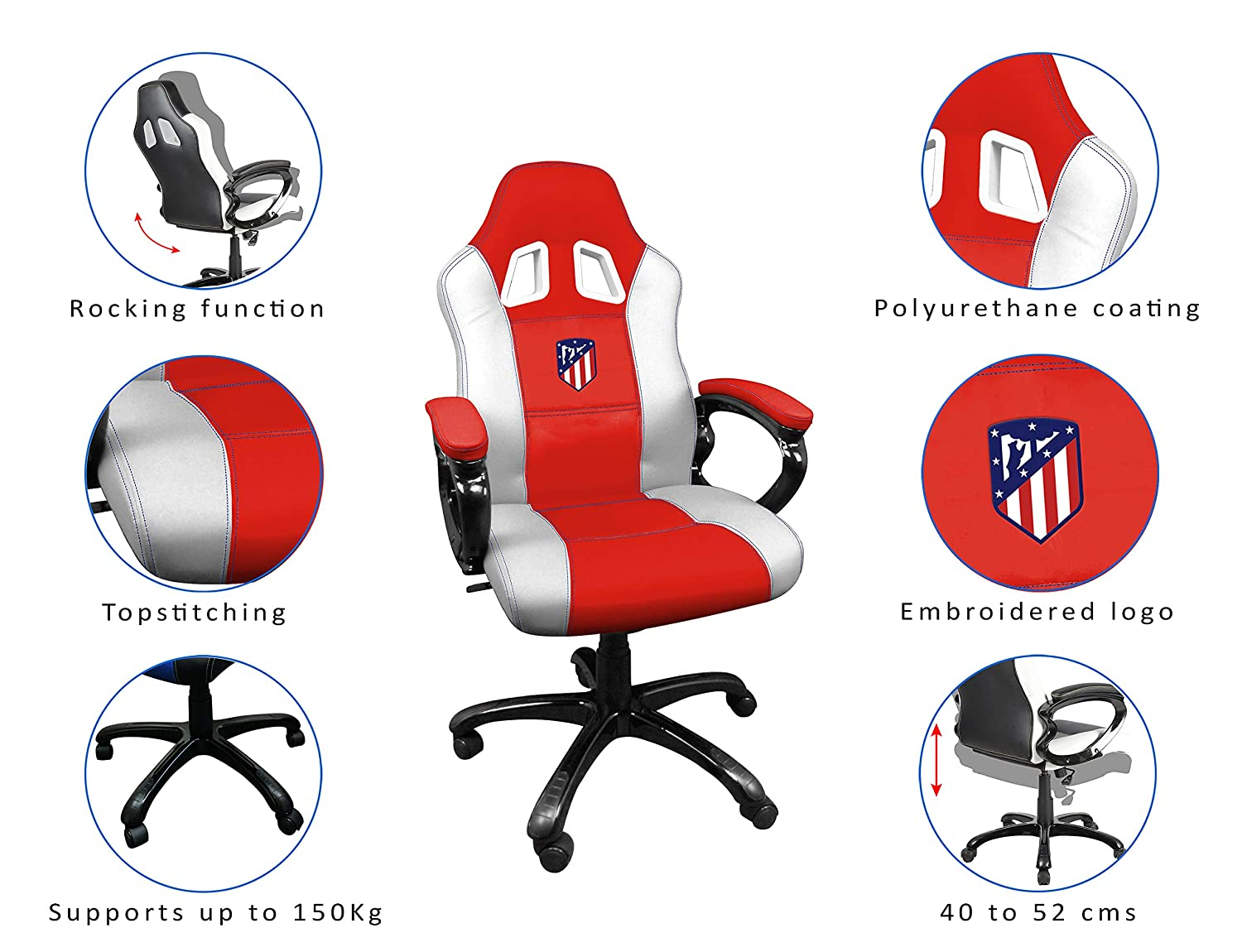 FCB FC Barcelona Silla gaming - Sillón gamer de oficina accesorio PS4, Xbox One, PC: playstation 4: Amazon.es: Videojuegos
