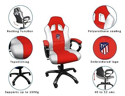 Subsonic - Silla Gaming Con Asiento De Carrera Ergonómico Atlético De Madrid (PS4): Amazon.es: Electrónica