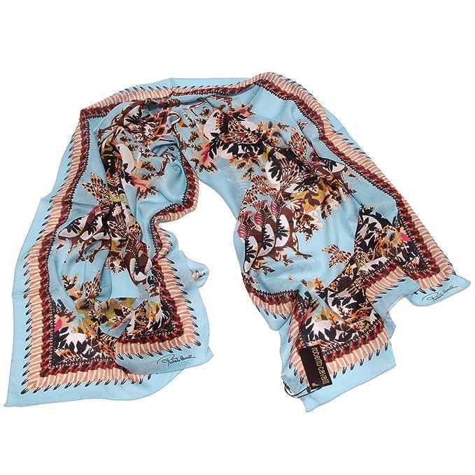 4678U sciarpa donna ROBERTO CAVALLI stola seta silk scarf woman [ONE SIZE]:  Amazon.es: Ropa y accesorios
